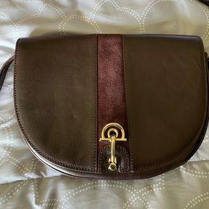 Talbots leather crossbody. 10.5x8 adjustable strap